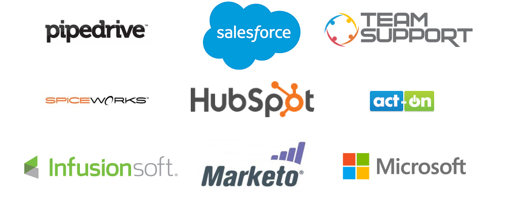 Sales and CRM logos