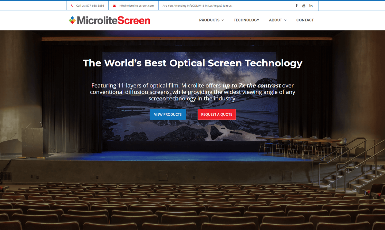 Microlite Screens Website
