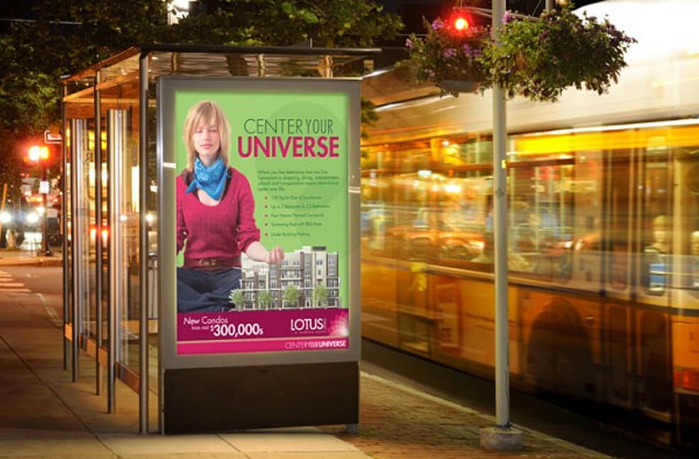 Lotus Walk - Integrated Marketing - Bus Stop Sign
