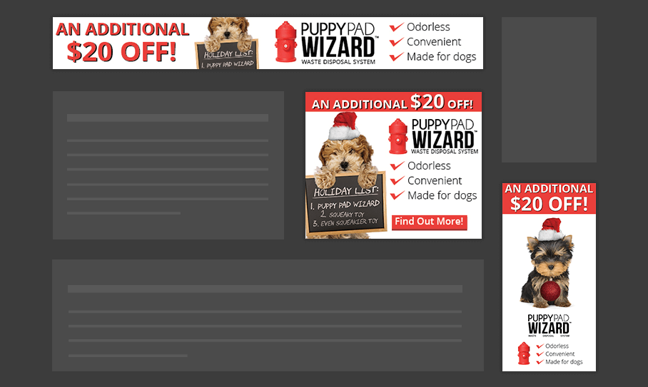 PuppyPad Wizard - Display Ads