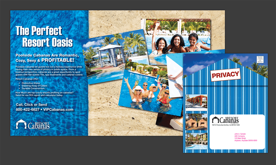 Resort Cabanas - Direct Mail