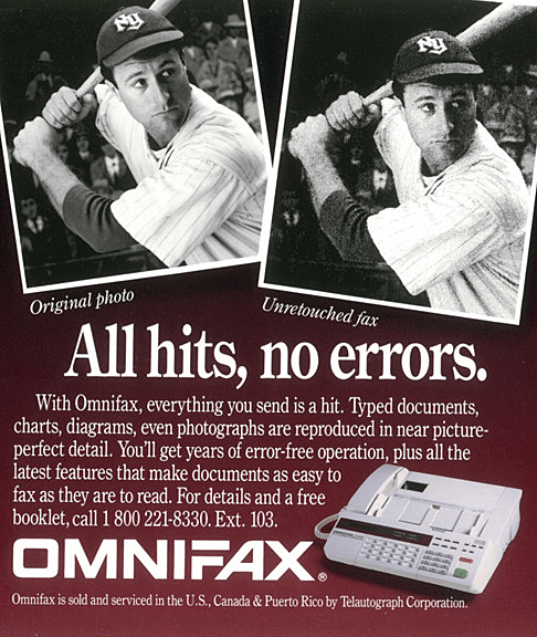OMNIFAX Print Ad - All hits, no errors