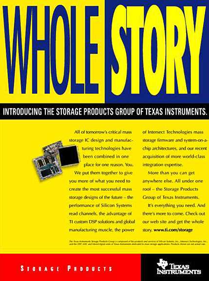 Texas Instruments Print Ad - Whole Story